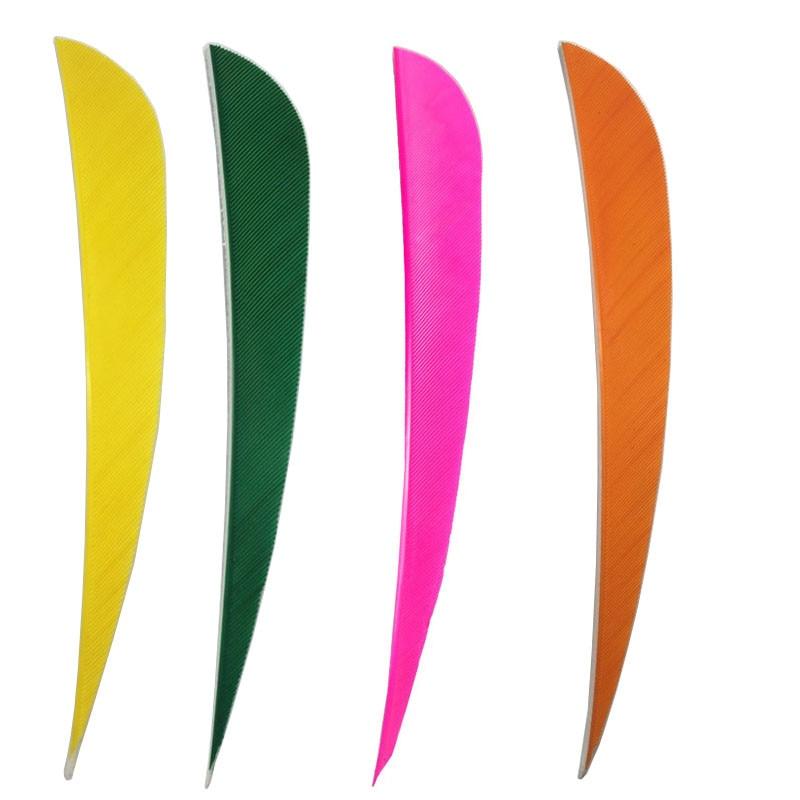 MUSEN Vane 50pcs Archery Accessory Hunt Arrows Black Plastic Fletch Feather