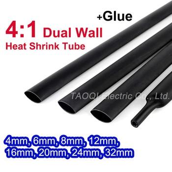 цена на Heat Shrink Tube with Glue Adhesive Lined 4:1 Dual Wall Tubing Sleeve Wrap Wire Cable kit 4mm 6mm 8mm 12mm 16mm 20mm 24mm 32mm