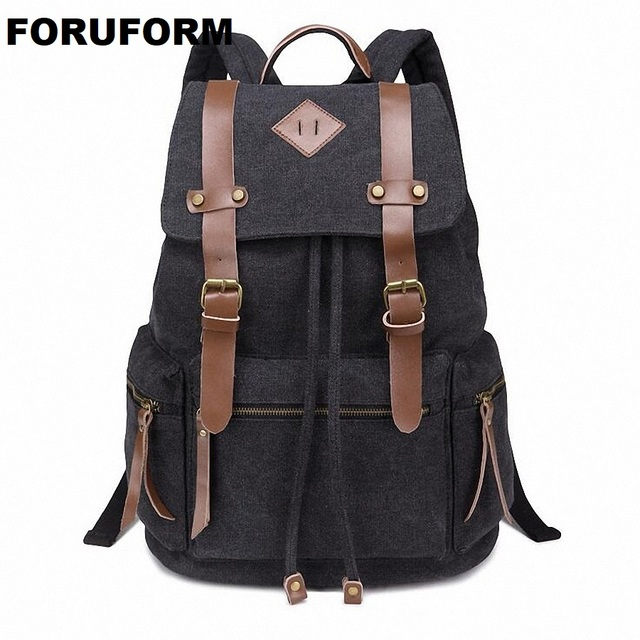 New Fashion Arcuate Shoulder Strap Solid Casual Bag Male Backpack School  Bag Canvas Bag Designer Backpacks For Men Women LI-1397 ccec84d8ef1f0