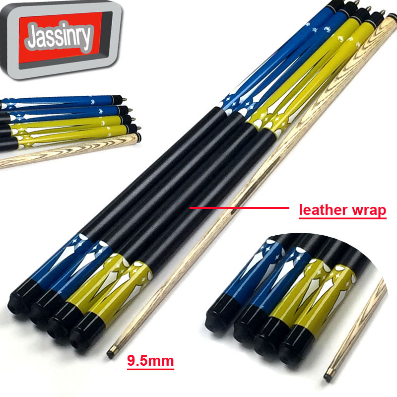 free shipping 9 5mm Snooker ball arm cues 1 2 split Pool Billiards cues in rubber