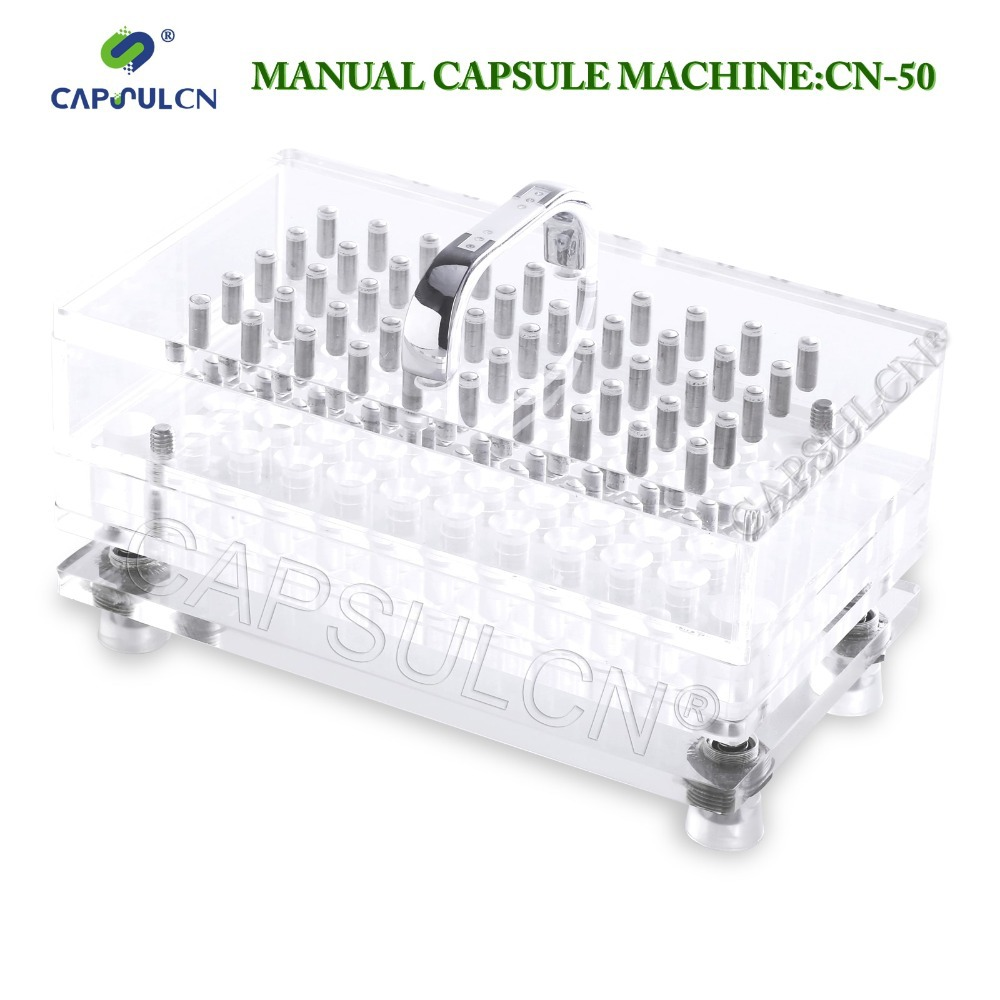 TOP quality (50 holes) CN-50 size 5 high precision, capsule filler/capsule filling machine, suitable for separated capsule