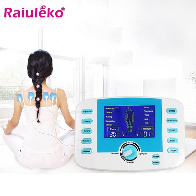 Le corps électronique de double sortie de ménage amincissant le Massage d'impulsion pour le Muscle détendent le masseur de soulagement de douleur