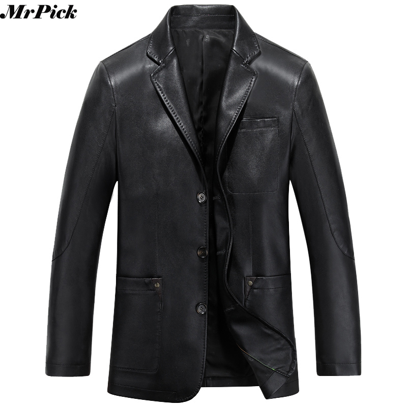 2017 New Men Summer Autumn PU Leather Blazer Jacket Fashion Casual Designer Brand Hip Hop Jacket E0710-001