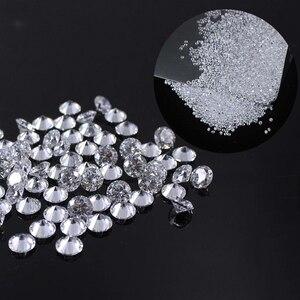 Image 2 - 2.0mm moissanite en vrac environ 35 pièces FG couleur laboratoire diamant perle en vrac rond brillant coupe 0.03ct Test positif
