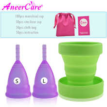100pcs Menstrual Cup Feminine Hygiene Silicone Collector Menstrual de Medica Sterilizer Collapsible cup Recyclable Camping Cups - DISCOUNT ITEM  30% OFF All Category