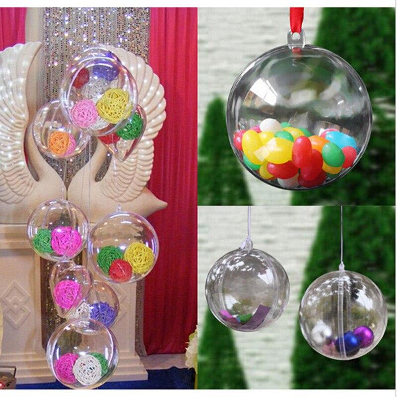 unids rboles de navidad adornos de bolas de cm de plstico abierta caja
