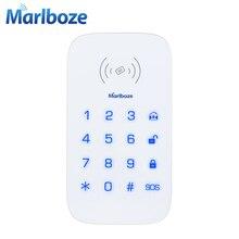 Marlboze Беспроводной сенсорная клавиатура для PG103 PG168 домашней безопасности WI-FI GSM сигнализация Системы RFID карты разоружить Беспроводная клавиатура на пароле