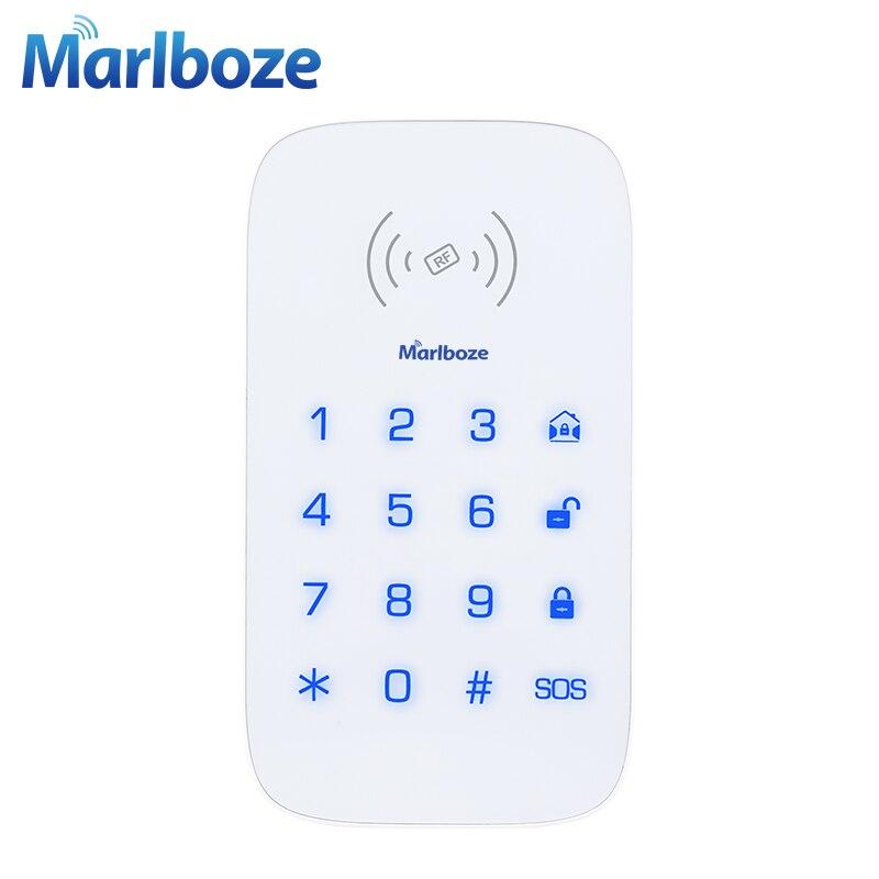 Marlboze Wireless-touch-tastatur für PG103 PG168 Home Security WIFI GSM Alarm System Rfid-karte Entwaffnen Drahtlose Kennworttastatur