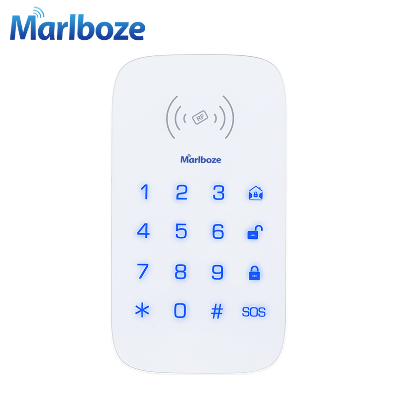 Marlboze Wireless Touch Keypad For PG103 PG168 Home Security WIFI GSM Alarm System RFID Card Disarm