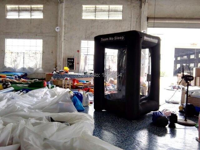 H2m square inflatable  black money machine cash machine money catsh mathine for advertising inflatable games