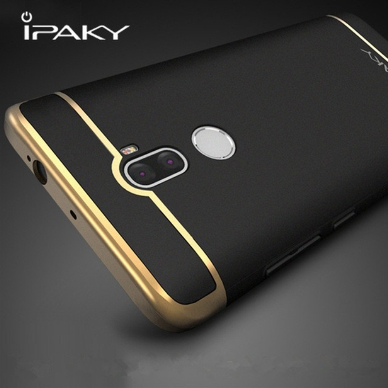 Original IPAKY Full Protection Mi5 Case Redmi Note 4X 3in1 Plating Matte Back Cover Coque Housing