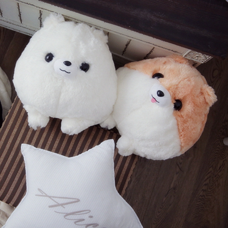 Wholesale pomeranian plush toy Cartoon dog doll ball High quality and low price 45cm super cute plush toy dog doll as a christmas gift for children s home decoration 20