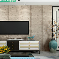 Japanese style 3D simulation bamboo weaving pattern wallpaper bedroom study comfortable teahouse TV sofa background wall paper