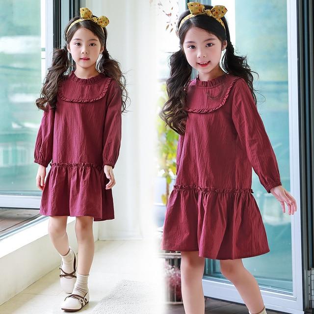 2018 New Baby Comfortable Dress Girls Cotton Dress Kids Spring Dress