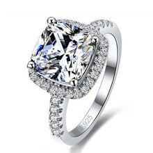 1ffa207617f9 JEXXI nueva llegada corte cuadrado bastante de circón cúbico de diseño de  lujo de Plata de Ley 925 anillo de plata de las mujere.