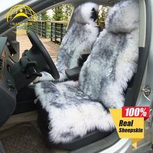 OKAYDA RU Seat Covers Car New Fur Australian sheepskin 1 pic Universal Fit Interior Accessories Protector Send from Russian