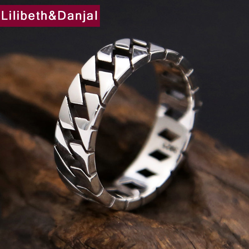 925 Sterling Silver Ring Men Jewelry Hollow Smooth Wedding Brand Ring  Gift Fine Jewelry Wholesale R17