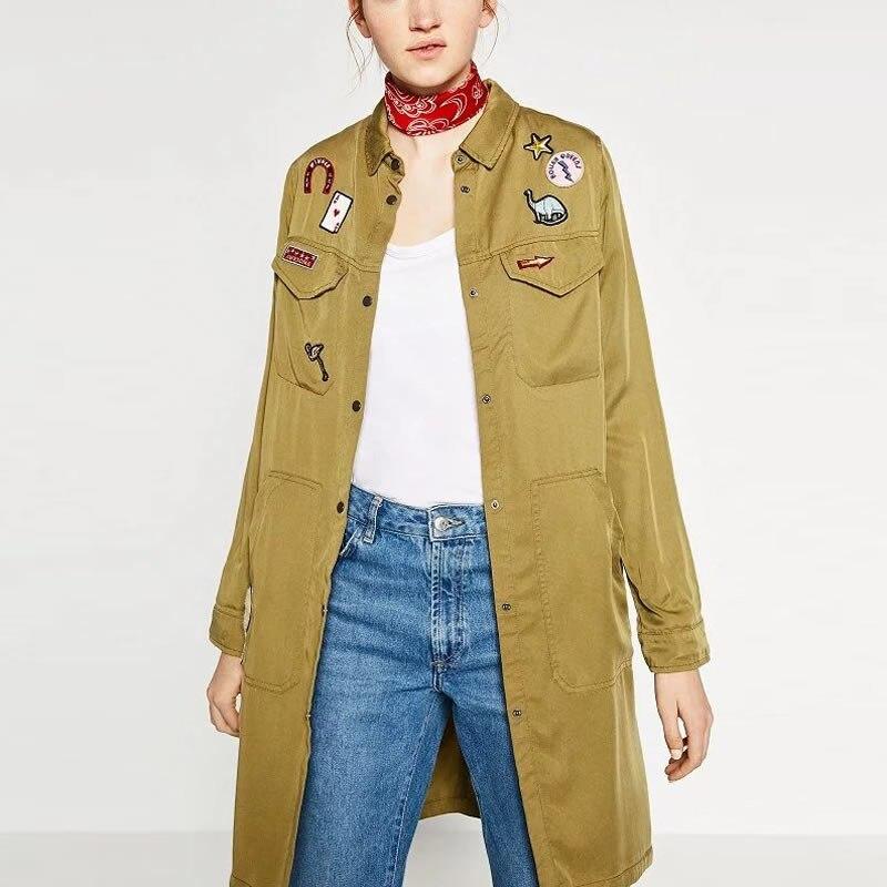 De Las Nuevas Mujeres Abrigo de Invierno Chaqueta abrigos básicos largo verde De