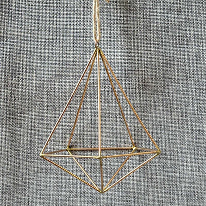 Pentola di metallo Cremagliera Del Fiore Contenitore Terrario Box Moss Felce Vaso di Arredamento Vintage Freestanding Appeso Geometrica Tillandsia Fiore Pianta