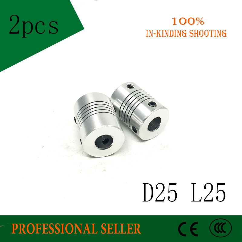 D25*L25 Aluminium flexible Jaw Shaft Coupling CNC Stepper Motor Coupler Encoders Engraving Machine shaft coupling machine coupling aluminium coupling cnc motor coupling