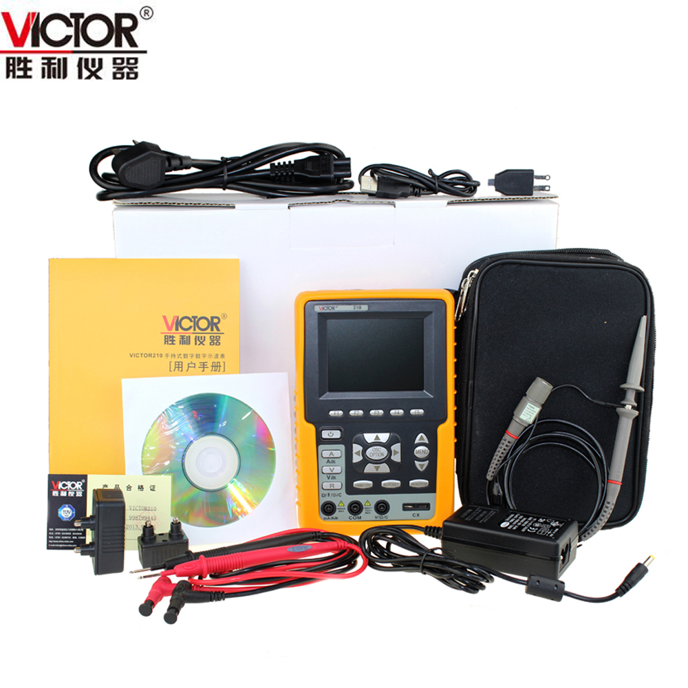 Victor VC210 Handheld Color Display High Precision Pocket Oscilloscope ds202 low price pocket oscilloscope with color display