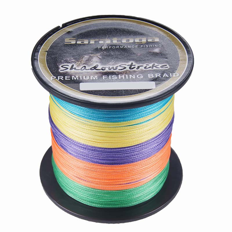 უფასო ტრანსპორტირება Saratoga Fishing line 8 Strands 100m Braided Multifilament FishLine 100m 6lb 10lb 30lb 60lb 80lb 100lb 200lb 300lb