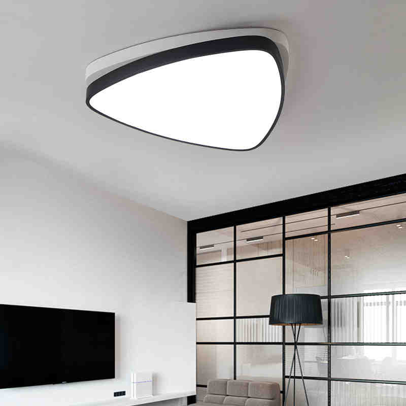 Remote control Surface mounted Triangle modern led ceiling lights lamp for living room study room bedroom ceiling lamp fixtures