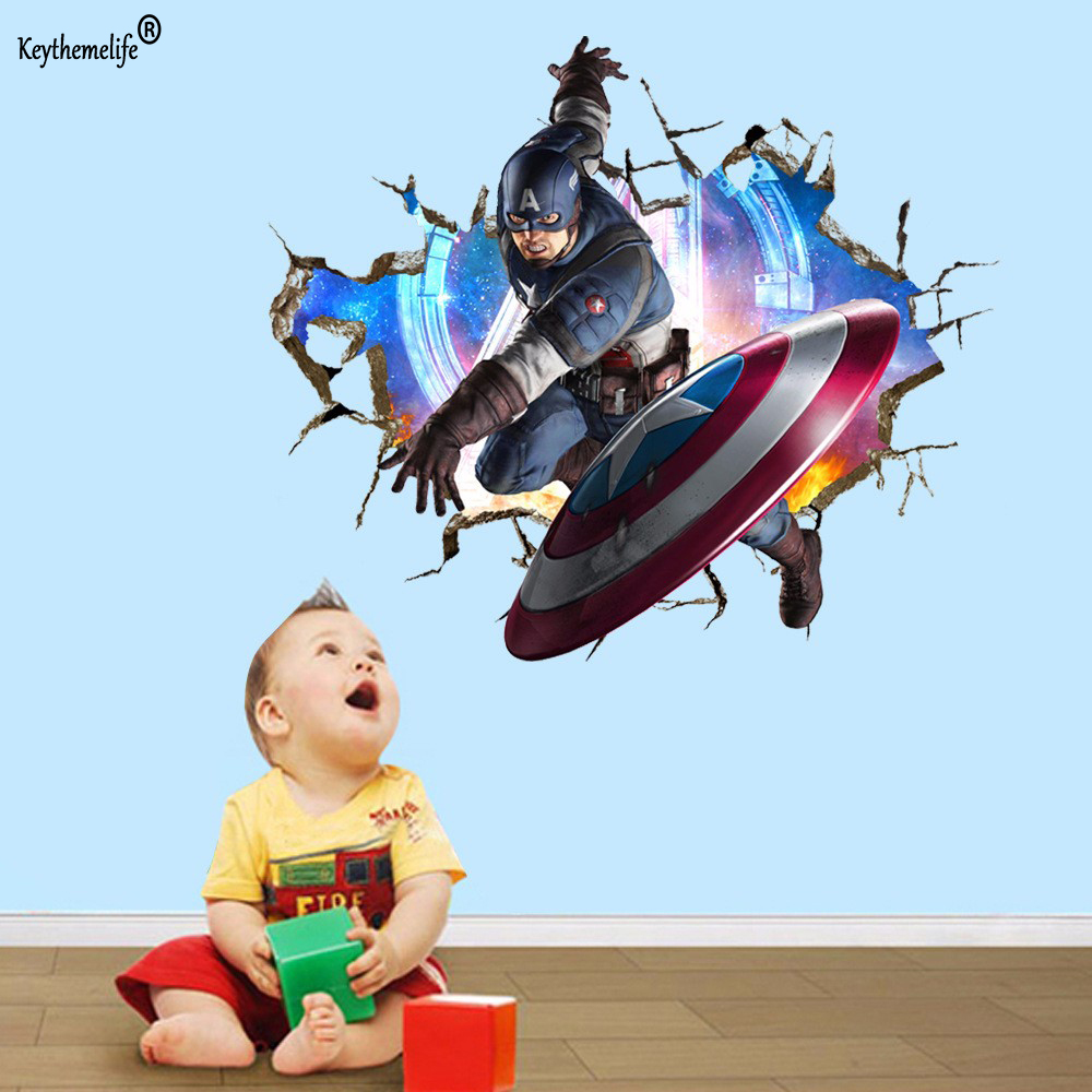 Aliexpress.com : Buy Avengers 3D Through Wall Stickers