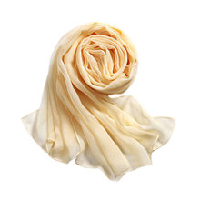 Charming Chiffon Scarf Wrap Shawl For Women Solid Color Summer Beach Long Scarves Muslim Foulard Femme Cachecol