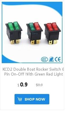 KCD1 Красная Кнопка ВКЛ-ВЫКЛ 3Pin DPST лодка автомобиля кулисный переключатель 6A/10A 250 V/125 vac