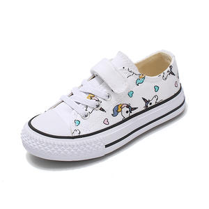 Boy Shoes Sneakers Unicorn Canvas Rainbow Girls Autumn Cute Print