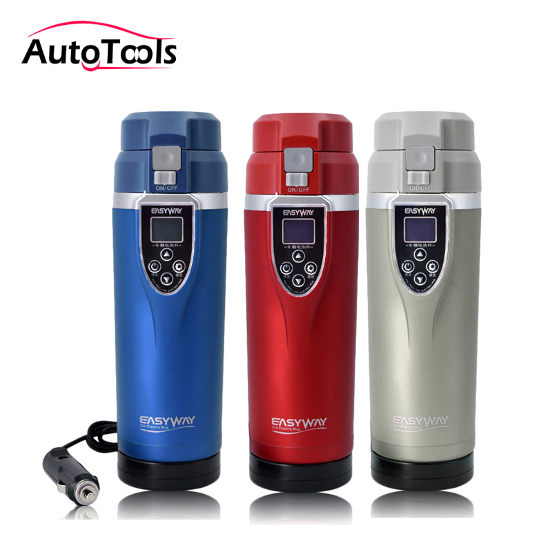 все цены на 350ML Auto car Heating Cup Adjustable Temperature Car Boiling Mug Electric Kettle Boiling Vehicle Thermos car accessories онлайн