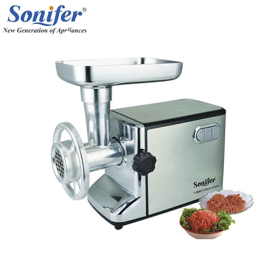 3000W stainless steel Home Electric Meat Grinder Sausage Stuffer Mincer Heavy Duty Household Mincer Sonifer 110 240v electric meat grinder heavy duty household commercial sausage maker meats mincer food grinding mincing machine