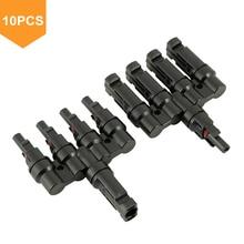 10 pair MC4 T Branch 30A Solar Panel Connector M/FM 4 to 1  Cable Coupler Combiner Connectors MC4T-A4