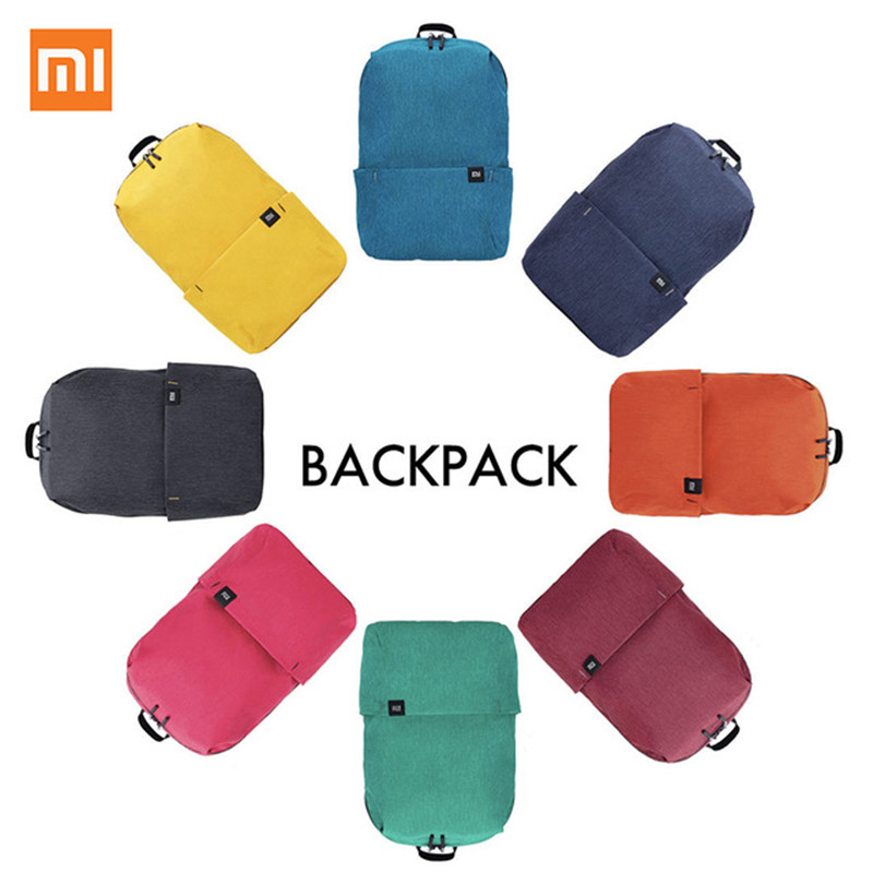 Xiaomi Colorful Mini Backpack Bag 10L Anti Water Bag Mi 8 Color Lovers Couple Backpack For Student Younth-in Laptop Bags & Cases from Computer & Office