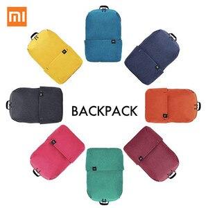Image 1 - Xiaomi colorido mini mochila saco 10l anti água mi 8 amantes da cor casal mochila para estudante younth