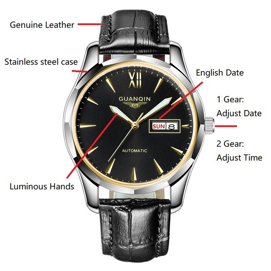 CARNIVAL Blue ручной многофункциональный автоматические мужские механические часы дорогие, брендовые деловые часы StainlessSteel Case Sport relogio - 3