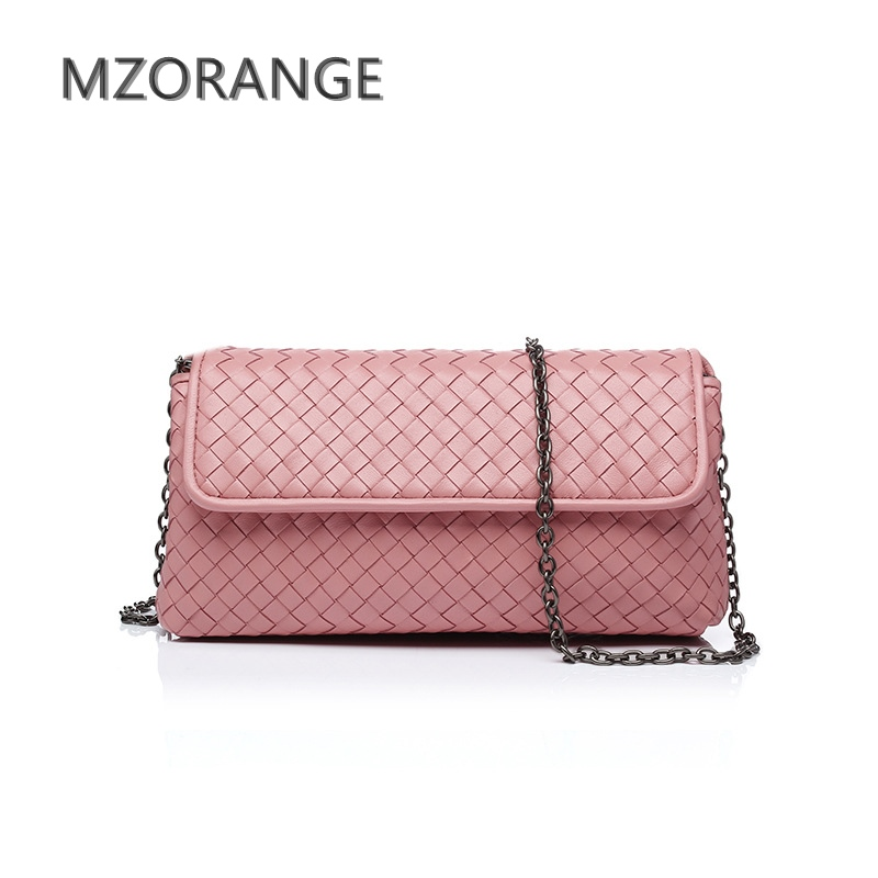 MZORANGE 2017New sheepskin Woven genuine leather women Small handbag Luxury design Lady Chain Crossbody Bag High Quality bags new style diamond lattice chain small bag top grade sheepskin shoulder bags mini women bag genuine leather luxury brand bag