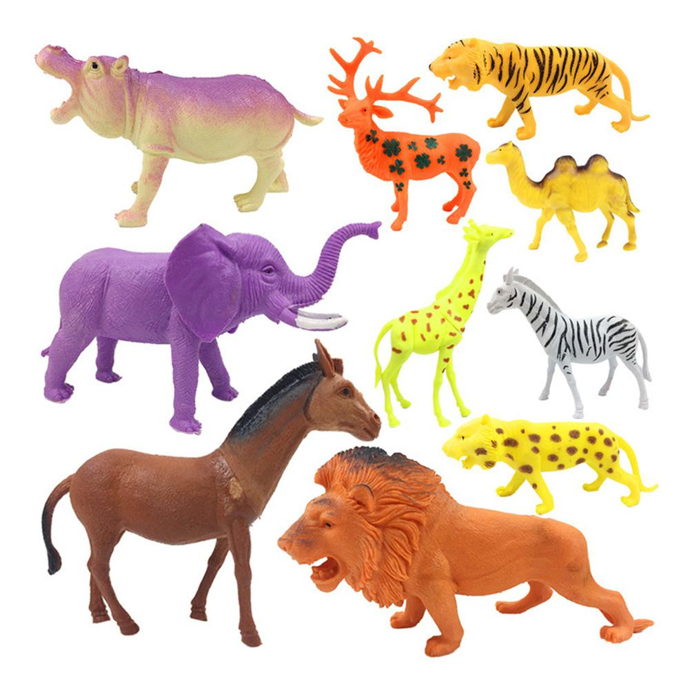 10PCS Set Children Cute Simulation Forest Doll Set for Kids in Action Toy Figures from Toys Hobbies