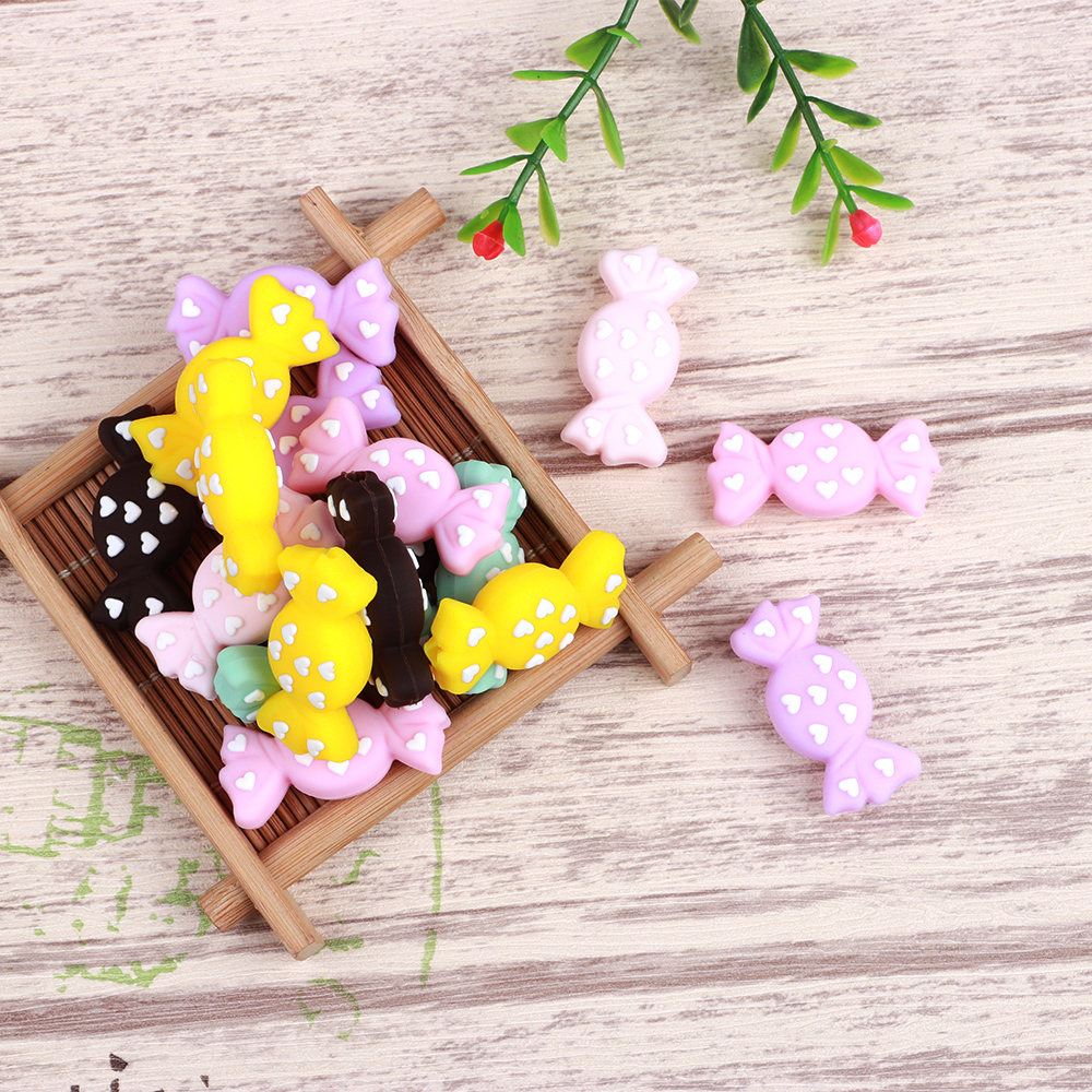 100PCS Candy Silicone Beads Teething Toys  Baby Teether Pacifier Clips Crafts Food Grade Silicone Teething Beads100PCS Candy Silicone Beads Teething Toys  Baby Teether Pacifier Clips Crafts Food Grade Silicone Teething Beads