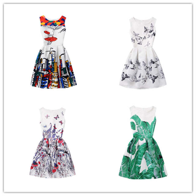 4b56ebf8abc placeholder 2019 Summer Girls Dress Butterfly Floral Print Princess Dresses  for 6 8 9 10 11 12