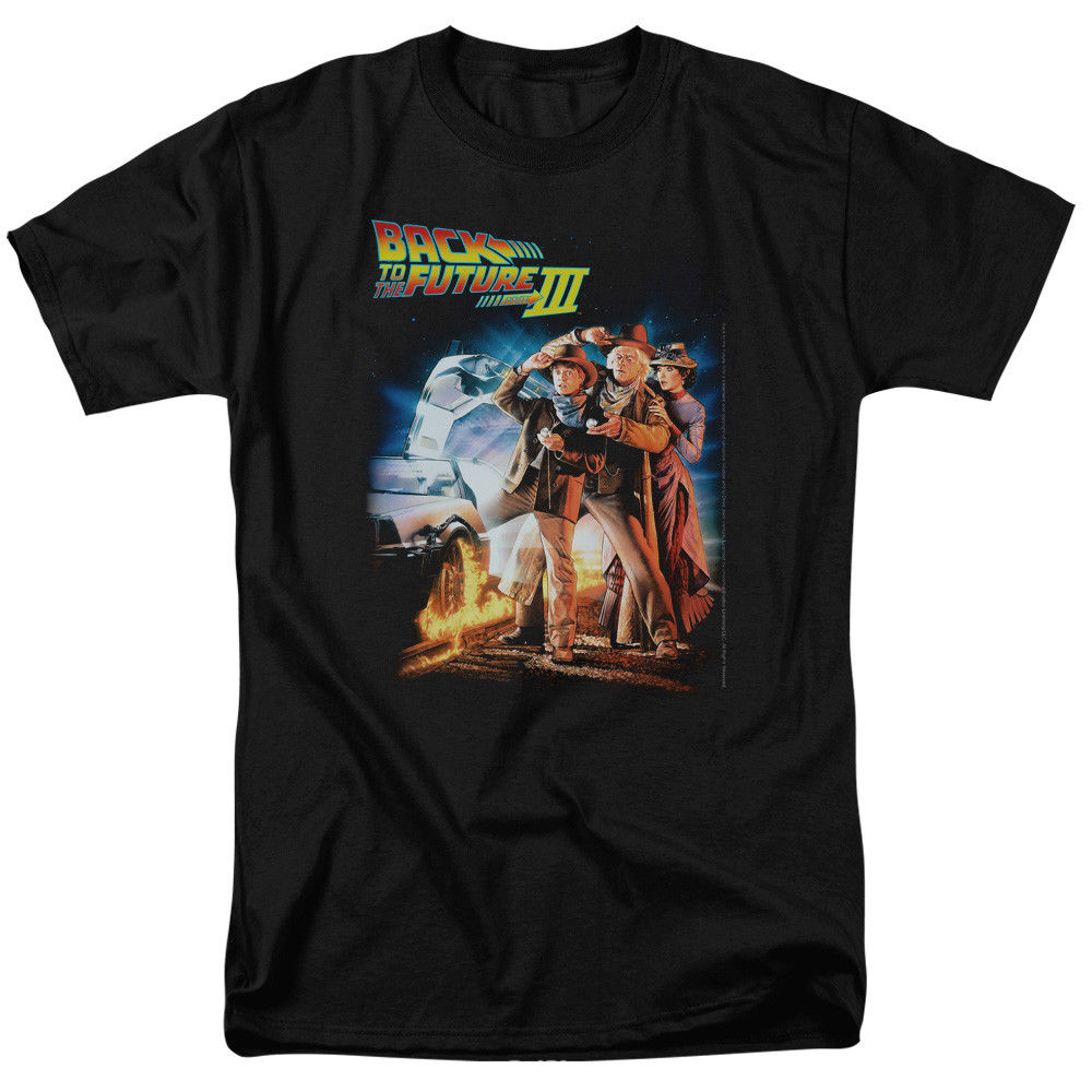 Back To The Future Iii Poster T- Shirts for Men Sleeve Tee Shirt Homme T Shirt Summer O-Neck Hipster Tops Top Tee