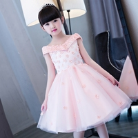 Fairy princess costume little girl summer holiday dress shoulderless kids ball gowns cocktail 2018 evening party baby birthday