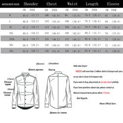 2019 New Fashion Casual Shirt Men Long Sleeve Slim Fit Men's Casual Button-Down Shirt Formal Dress Shirts Men Clothes Camisa 6