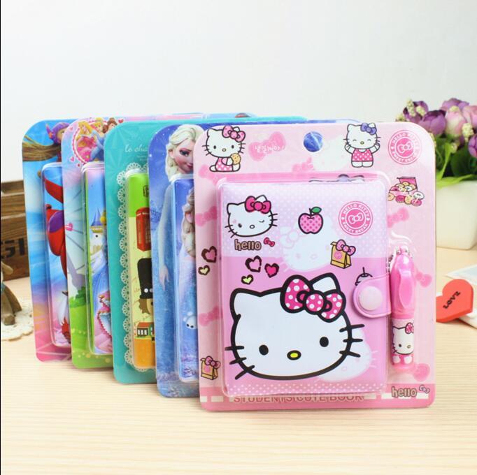 1 Pcs Notebook Hello Kitty Cartoon Little Yellow People A Variety Of Gift Santa Claus Cartoon Notepad Writing Notebook