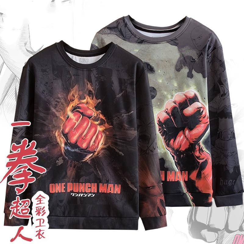 Anime ONE PUNCH-homme Saitama Cosplay Costume en peluche sweat à capuche unisexe pull chemises à manches courtes T shirt t-shirt hauts été
