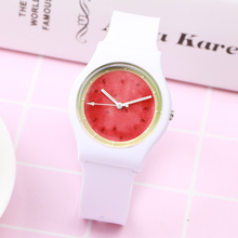 New Brand Fashion Cute Watermelon fruit Mini Women Children Watch Waterproof Jelly Sport Watch For Girls Quartz Wristwatch(China)