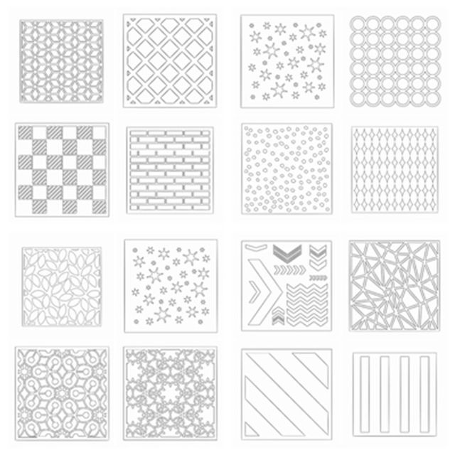 Plastic Draw Stencil For Diy Sbooking Decorative Embossing Paper Cards Crafts Templates Drawing Sheets