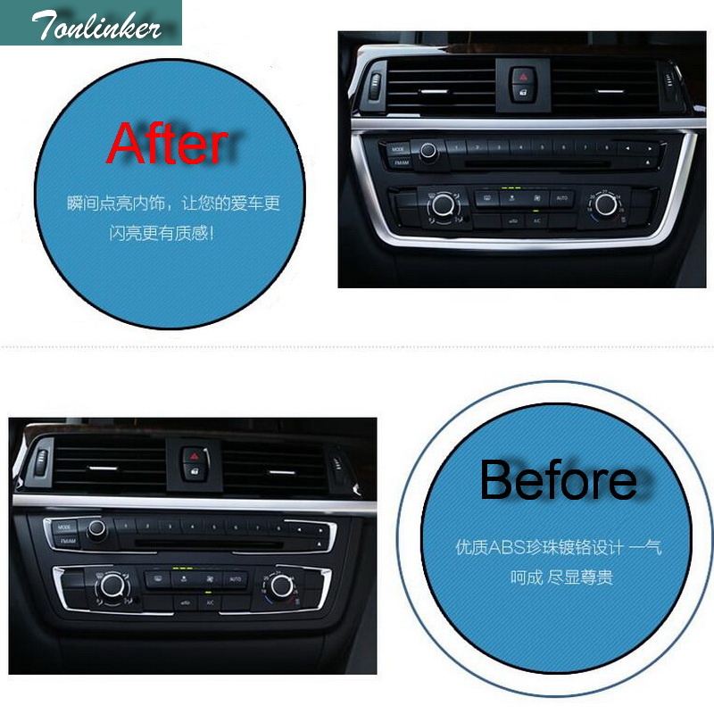 Tonlinker 1 PCS Car DIY ABS Chrome U Type CD Control Panel