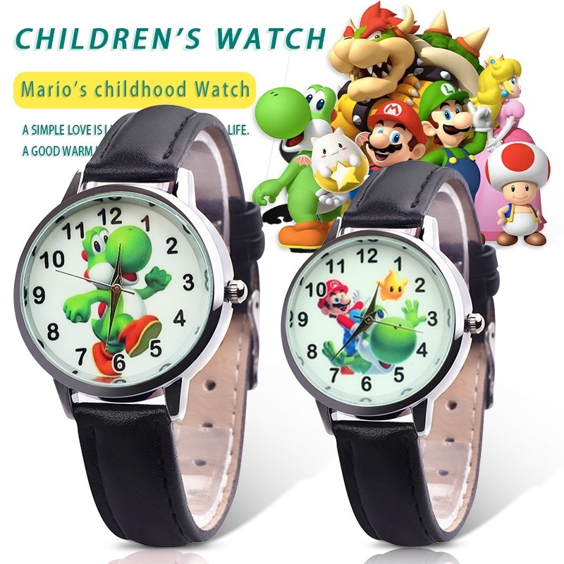 2019 Cute 3D Cartoon Lovely Kids Girls Boys Children Students Super Mario Quartz Wrist Watch Very Popular Watches